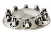 ABS Front Axle Cover Kit: Removable Cap, 10-Lug, Short 33mm Push On w/ Flange