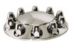 ABS Front Axle Cover Kit: Removable Cap, 10-Lug, 33mm Thread Standard w/ Flange