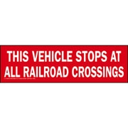 Vehicle Stops at Railroad crossings sign